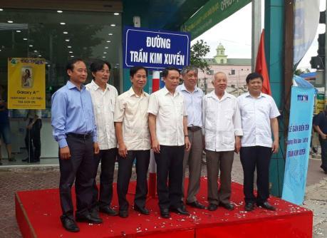 Lễ gắn biển tên đường Nhà báo, liệt sỹ Trần Kim Xuyến tại Hà Tĩnh