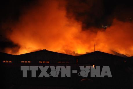 Tin mới nhất về vụ cháy lớn trong khu vực Cảng Sài Gòn