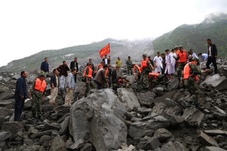 Sạt lở đất đá vùi lấp hơn 100 người tại Trung Quốc