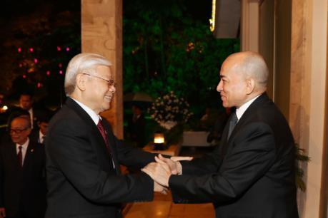 Báo chí Campuchia đưa tin đậm về chuyến thăm của Tổng Bí thư Nguyễn Phú Trọng