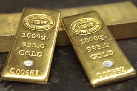 """Giá vàng giao ngay lập """"đỉnh"""" của 6 tuần sau tuyên bố của Fed"""