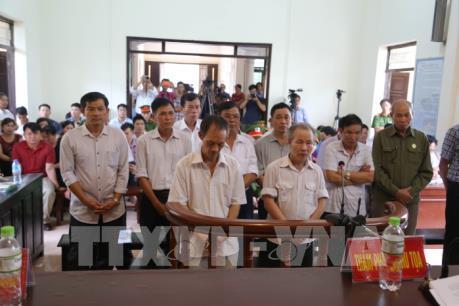 Xử vụ vi phạm quản lý đất đai ở Đồng Tâm: Phạt tù cao nhất đến 6 năm 6 tháng