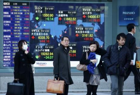 Sắc xanh - đỏ đan xen trên thị trường chứng khoán châu Á