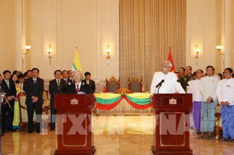 Việt Nam - Myanmar thống nhất nâng cấp quan hệ lên đối tác hợp tác toàn diện