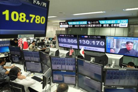 Thị trường chứng khoán châu Á giảm điểm sau vụ phóng tên lửa của Triều Tiên