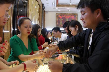 Giá vàng trong nước tuần qua tăng lên mốc 37 triệu đồng/lượng
