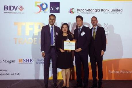 BIDV năm thứ 2 liên tiếp được ADB vinh danh là Ngân hàng đối tác hàng đầu tại Việt Nam