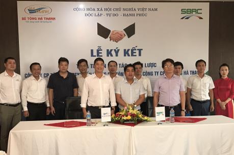 Hợp tác chiến lược giữa Công ty Đầu tư Xây dựng cầu đường Sài Gòn và Bê tông Hà Thanh