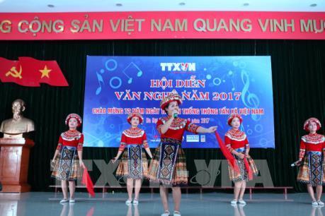 Tưng bừng hội diễn văn nghệ Thông tấn xã Việt Nam 2017