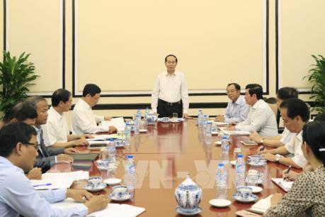 Chủ tịch nước Trần Đại Quang làm việc với lãnh đạo Ủy ban Quốc gia APEC 2017