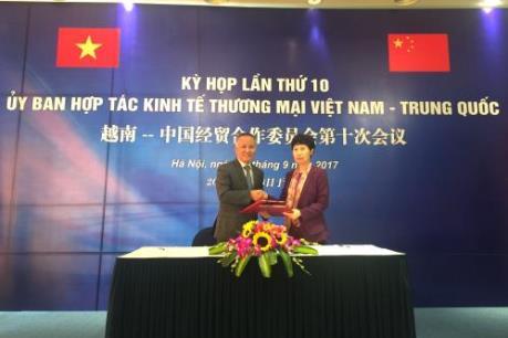 Quan hệ thương mại Việt Nam - Trung Quốc phát triển tích cực
