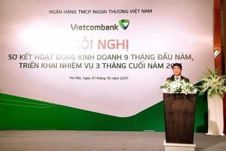 Vietcombank hoàn thành 86% kế hoạch năm