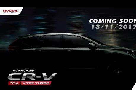 Honda CR-V thế hệ thứ 5 sẽ ra mắt thị trường Việt Nam vào ngày 13/11