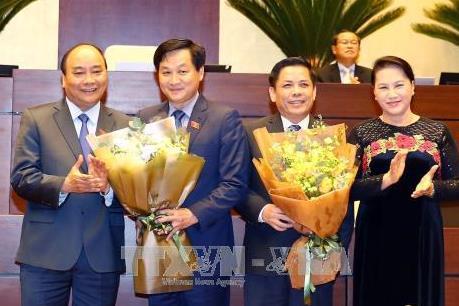 Quốc hội phê chuẩn bổ nhiệm Bộ trưởng Bộ Giao thông Vận tải và Tổng Thanh tra Chính phủ