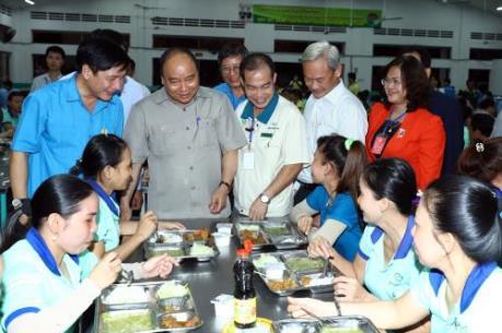 Thủ tướng Nguyễn Xuân Phúc đối thoại với công nhân tại Đồng Nai