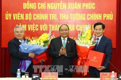 Thủ tướng Chính phủ giao nhiệm vụ cho tân Tổng Thanh tra Chính phủ