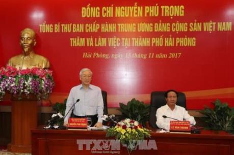 TBT Nguyễn Phú Trọng: Xây dựng thành phố cảng Hải Phòng xanh, văn minh, hiện đại, bền vững