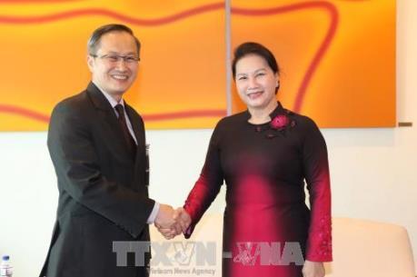 Chủ tịch Quốc hội Nguyễn Thị Kim Ngân bắt đầu thăm chính thức Cộng hòa Singapore