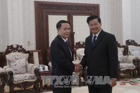 Lãnh đạo Lào đánh giá cao sự hỗ trợ và giúp đỡ của TTXVN