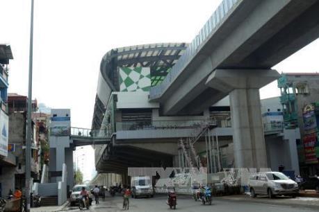 Đường sắt tuyến Cát Linh - Hà Đông sẽ chạy thử vào tháng 9/2018