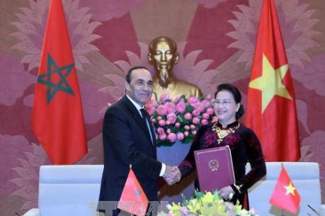 Chủ tịch Quốc hội Nguyễn Thị Kim Ngân hội đàm với Chủ tịch Hạ viện Vương quốc Maroc