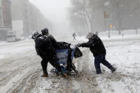'Bom bão tuyết' ở Mỹ nhìn đã thấy lạnh tê tái
