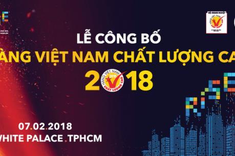 Trao chứng nhận nhãn Hàng Việt Nam chất lượng cao cho 640 doanh nghiệp