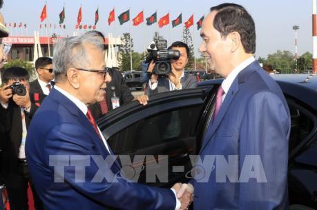 Chủ tịch nước Trần Đại Quang và Phu nhân bắt đầu thăm cấp Nhà nước tới Bangladesh