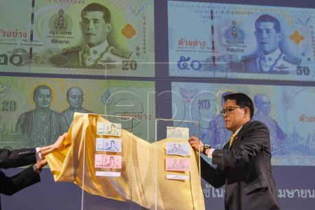 Thái Lan sắp đưa vào lưu hành tiền giấy mới in chân dung Tân Vương Rama X