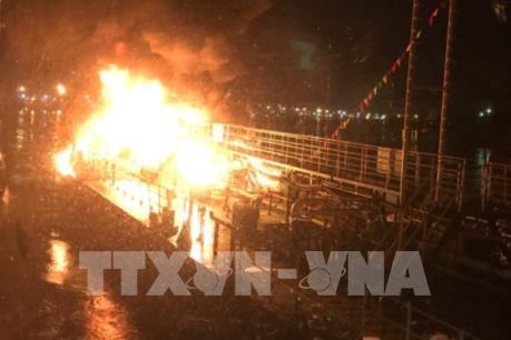 Tin mới nhất về vụ cháy trên tàu dầu Hải Hà 18 tại Hải Phòng