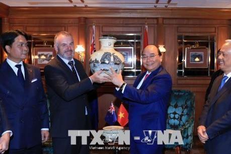 Thủ tướng Chính phủ Nguyễn Xuân Phúc hội kiến với Chủ tịch Quốc hội New Zealand