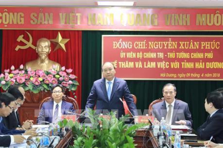 Thủ tướng đề nghị tỉnh Hải Dương tái cơ cấu lại các cụm, khu công nghiệp