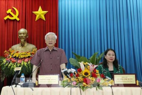 Tổng Bí thư Nguyễn Phú Trọng thăm và làm việc tại tỉnh An Giang