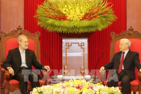 Tổng Bí thư Nguyễn Phú Trọng tiếp Chủ tịch Quốc hội nước Cộng hòa Hồi giáo Iran