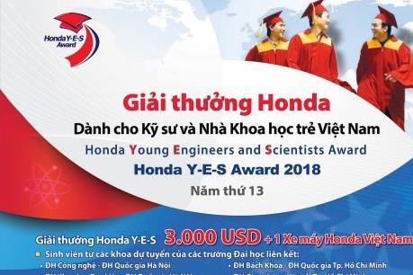 Khởi động giải thưởng Honda lần 13 dành cho các nhà khoa học trẻ Việt Nam