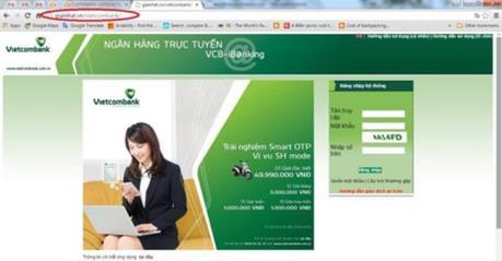 Cảnh báo xuất hiện thêm nhiều website giả mạo các ngân hàng