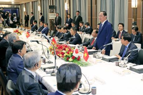 Chủ tịch nước Trần Đại Quang gặp gỡ, đối thoại với các tập đoàn kinh tế lớn của Nhật Bản