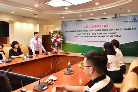 Vietcombank đạt chuẩn đổi mới thanh toán toàn cầu