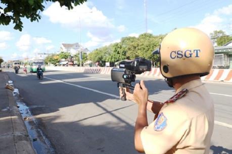 Trung úy Cảnh sát giao thông bị thương khi đang thi hành công vụ