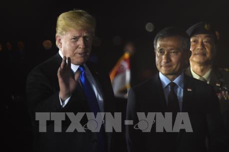 Hội nghị thượng đỉnh Mỹ - Triều Tiên: Tổng thống Mỹ D.Trump đã tới Singapore