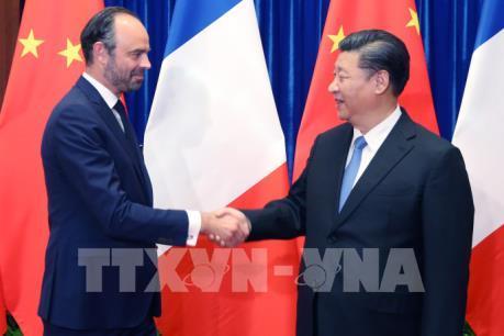 """Trung Quốc, Pháp cam kết đối phó chính sách """"Nước Mỹ trước tiên"""""""