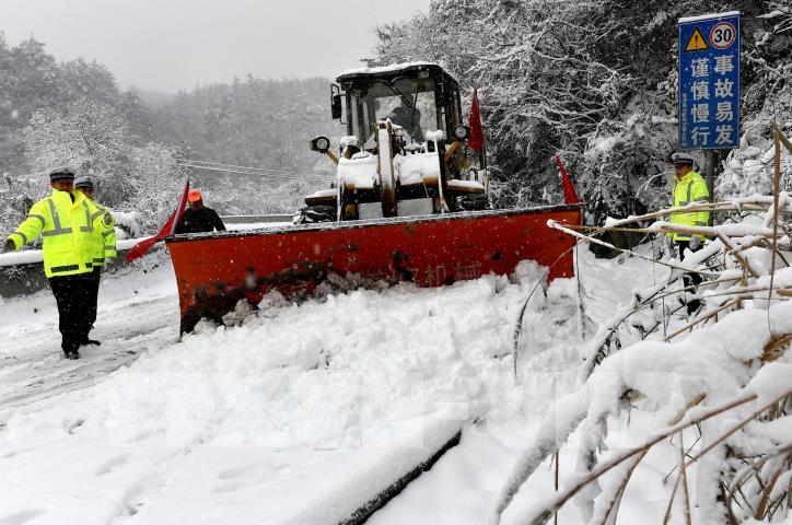 Tuyết rơi gây thiệt hại lớn ở Trung Quốc - hình 1