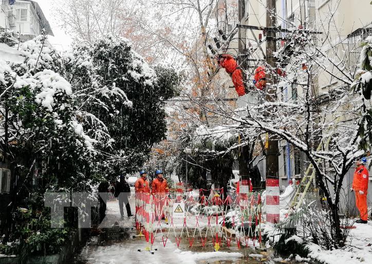 Tuyết rơi gây thiệt hại lớn ở Trung Quốc - hình 5