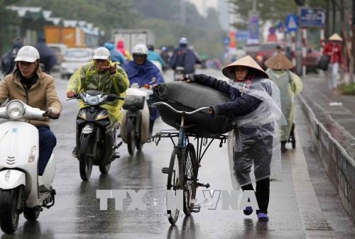 Người dân lao động ở Hà Nội chống chọi với giá rét - hình 1