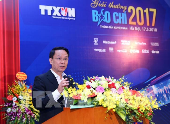 Lễ trao Giải báo chí Thông tấn xã Việt Nam 2017 - hình 4
