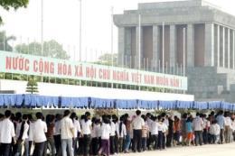 Từ ngày 5/9/2016 đến hết ngày 5/12/2016 tạm ngừng tổ chức lễ viếng Chủ tịch Hồ Chí Minh