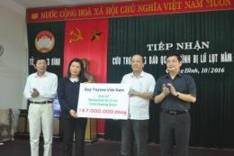 Toyota Việt Nam hỗ trợ hai tỉnh miền Trung hơn 1,3 tỷ đồng
