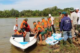 Diễn tập ứng phó sự cố công trình hồ thủy lợi Dầu Tiếng