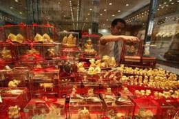 Giá vàng tăng trên thị trường Hong Kong