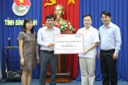 Honda hỗ trợ người dân Nam Trung Bộ bị ảnh hưởng bởi lũ lụt